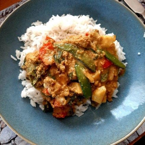 recipe Curry snow peas sugar snaps turnip
