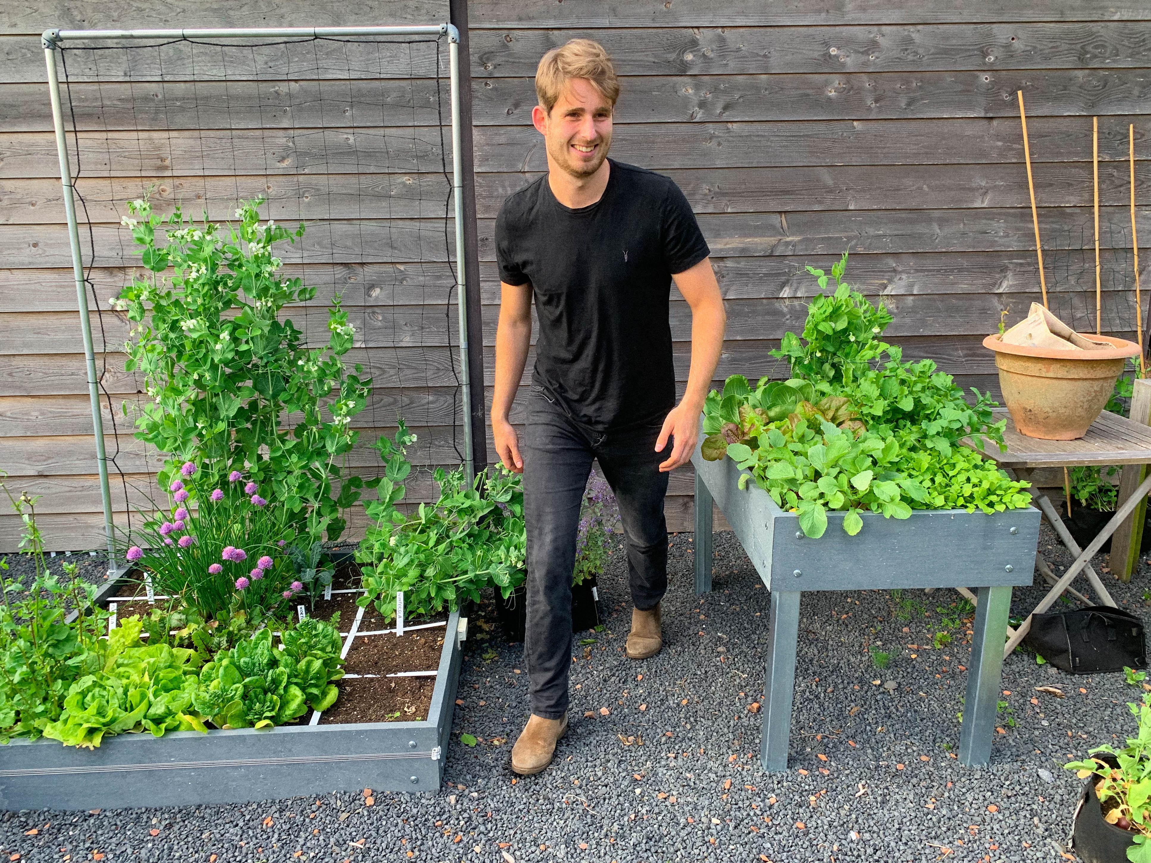 jelle in his Planty Garden